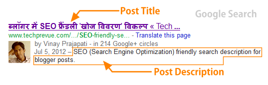 Search Description for blog post