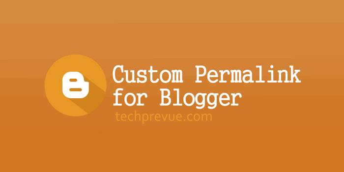 Custom permalink blogger