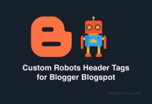 Custom robots header tags for Blogger