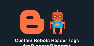 Custom robots header tags for Blogger