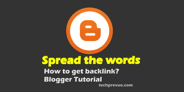 Spread the word widget for blogs