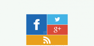 metro style social profile gadget