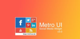 Metro UI Social Media Profile Widget 3.0