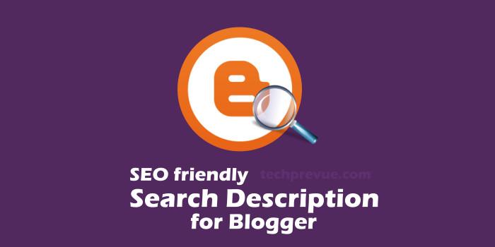 Post Search Description in Google Blogger Blogspot