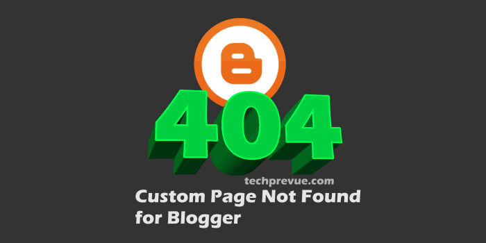 Custom Page Not Found for Blogger