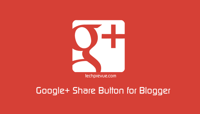 gplus button for blogger