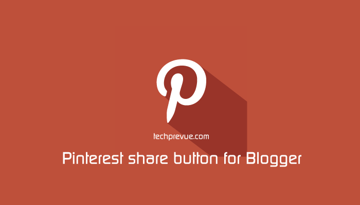 Add a Pinterest save button on Blogger