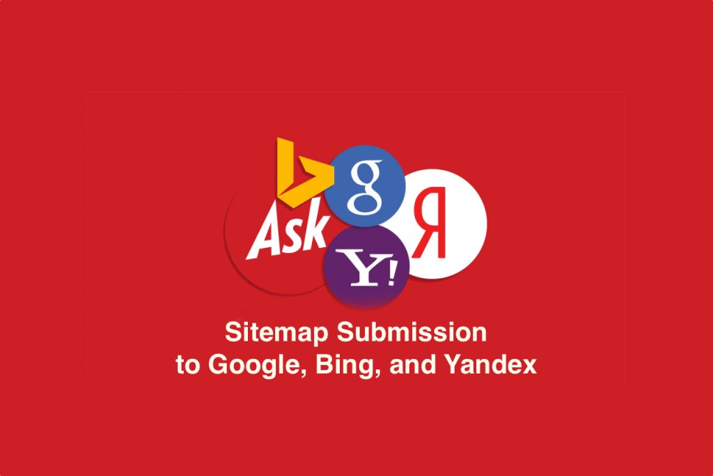 Sitemap submission to Google, Bing, and Yandex