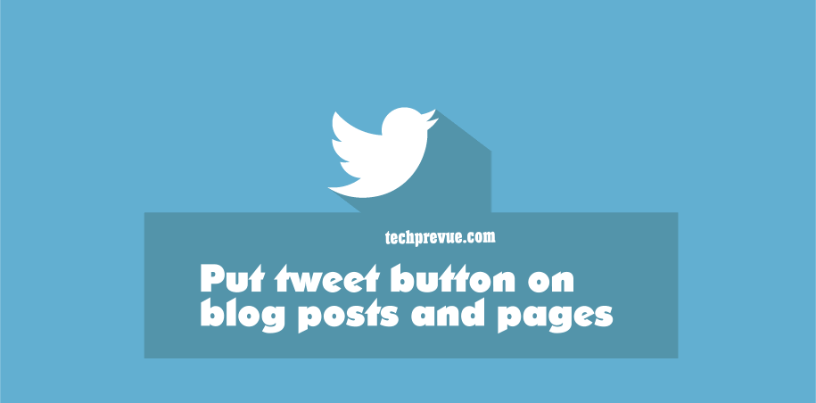 tweet button blogger