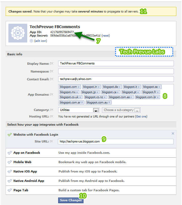 Facebook Comment Configuration on Blogger