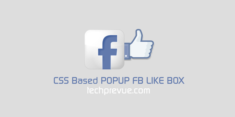 Facebook like box css popup
