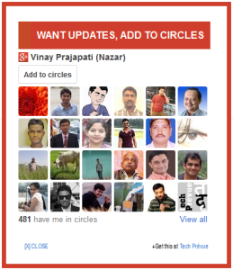 Google+ Add to Circles Widget