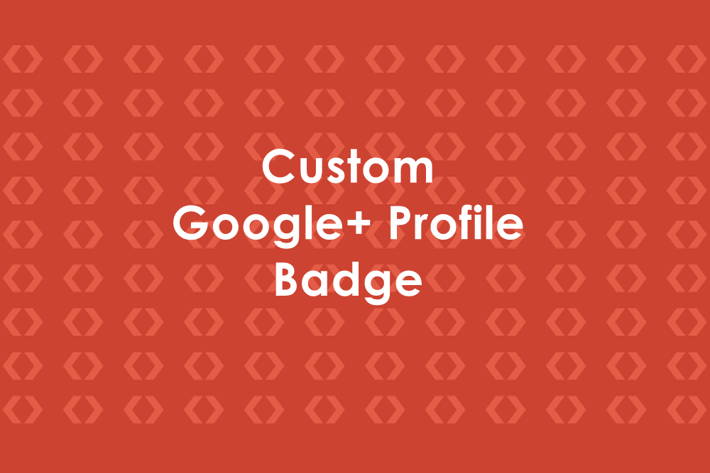 Custom Google+ Profile Badge