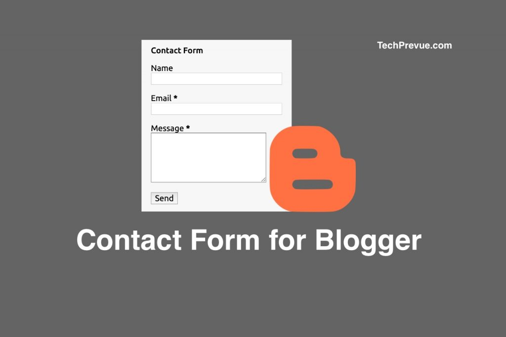 Blogger contact form for Blogspot