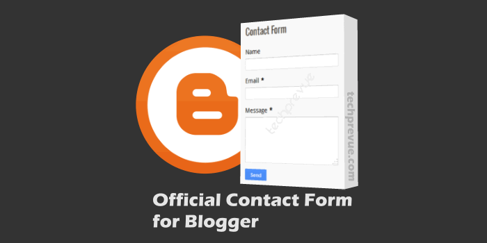 Official Blogger Contact Form