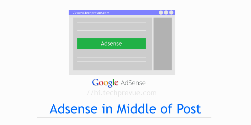 Put Google Adsense in middle of post