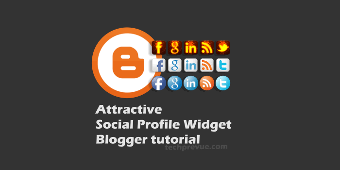 Attractive Social Profie Widget for Blogger