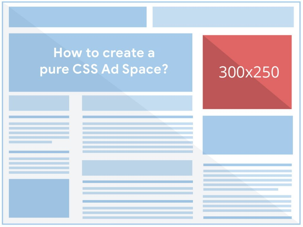 How to create a pure CSS ad space or box