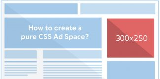 How to create a pure CSS advertisement space or box