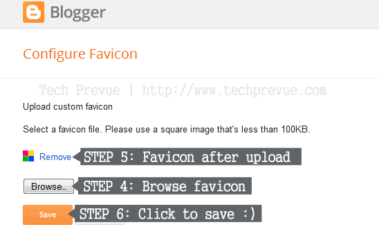 Custom favicon for Blogger