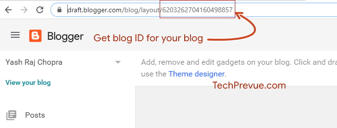 Get blog ID for your Blogspot blog