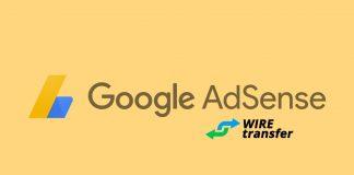 Add bank account to Google AdSense Wire Transfer