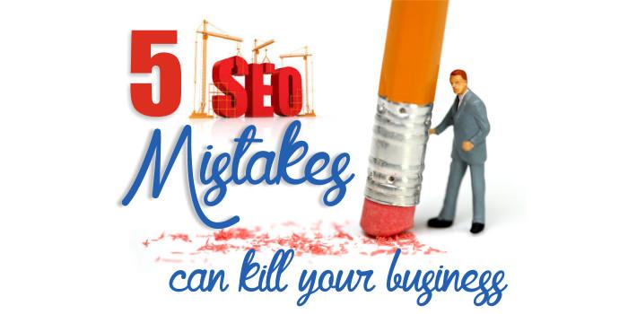 Five ways seo mistakes
