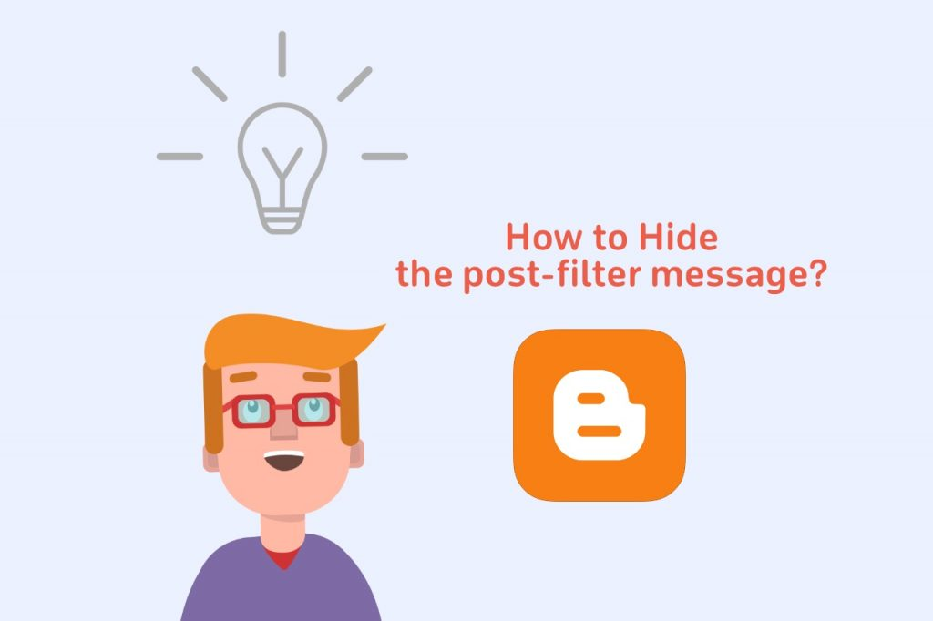 How to hide post-filter message on blogspot