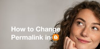 How to change permalink in Blogger Blogspost