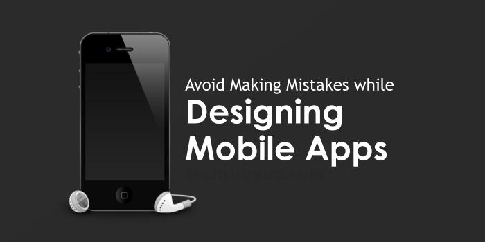 Avoid mistakes - Mobile app design