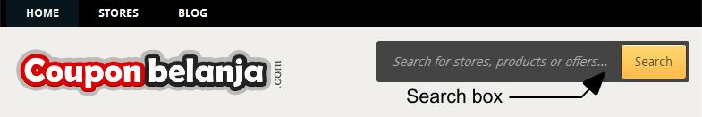 couponbelanja search box