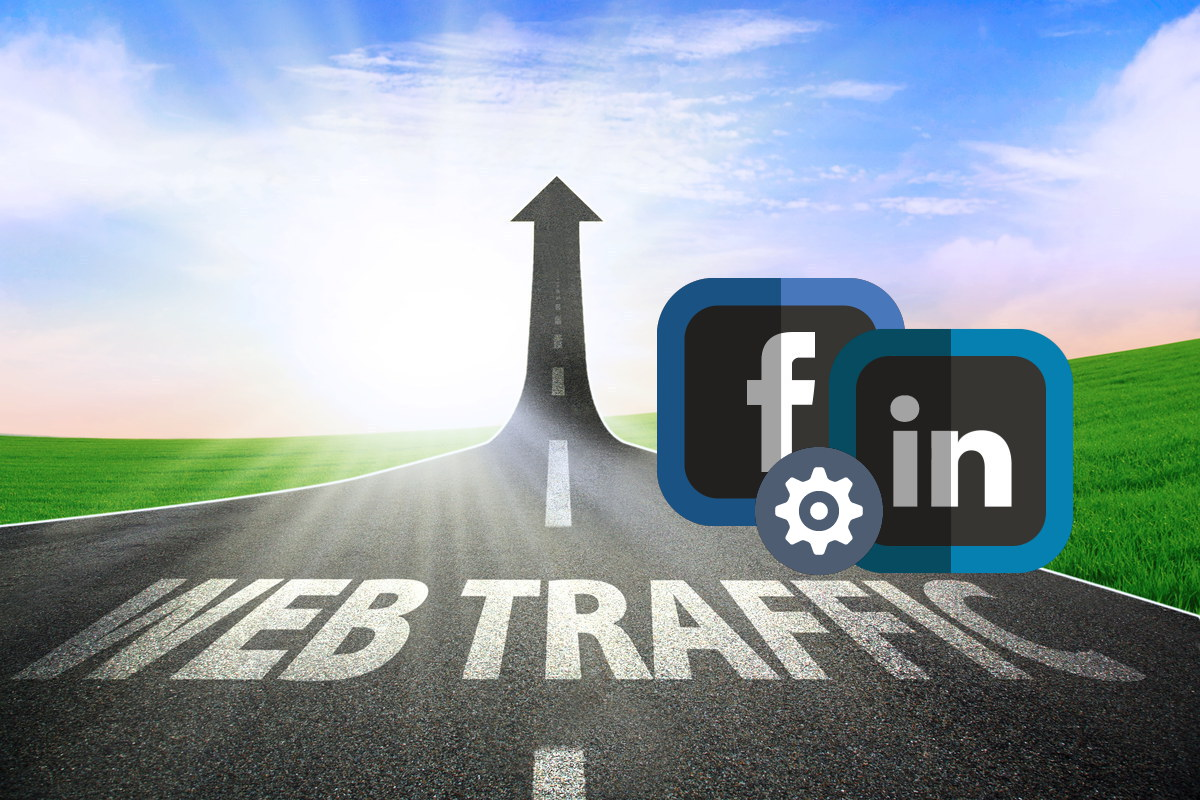 website traffic via fb and linkedin