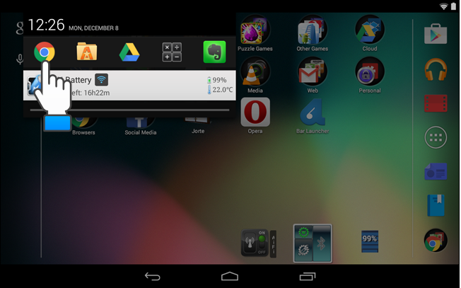 how to add shortcut on android tablet