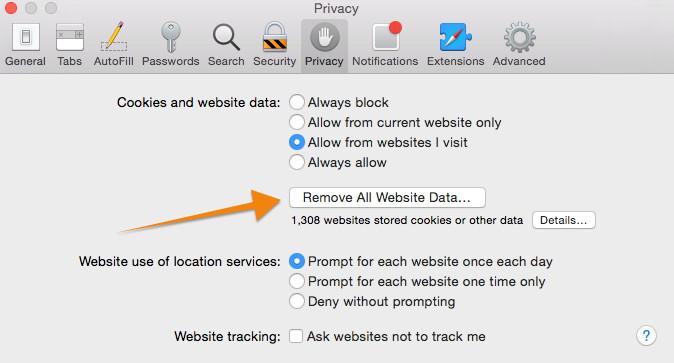 Remove All Website Data