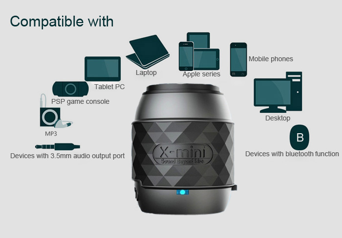 x-mini we portable wireless speaker compatibility