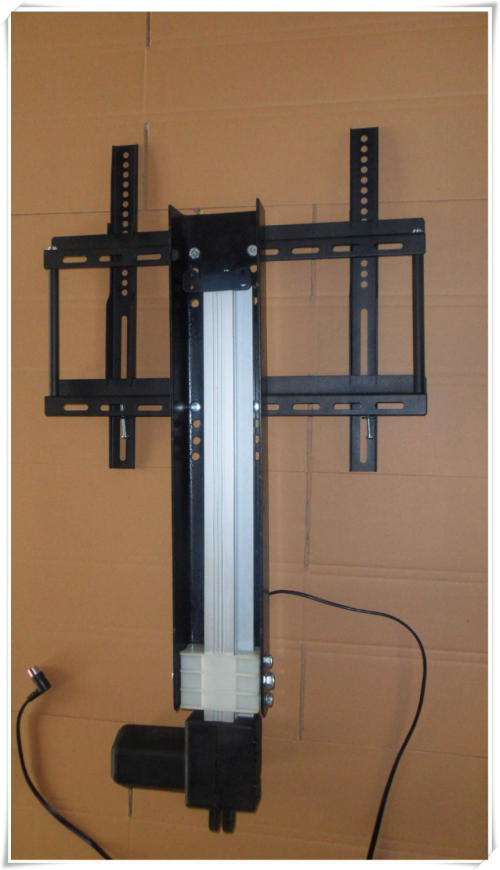 Diy how to build a custom tv lift for Motorized flat screen tv lift