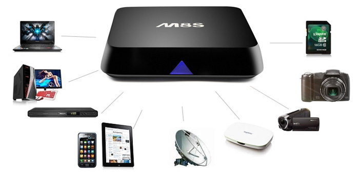 m8s android tv box connect devices