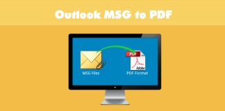 Outlook msg to pdf file