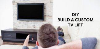 Build a TV lift with motorized TV mount