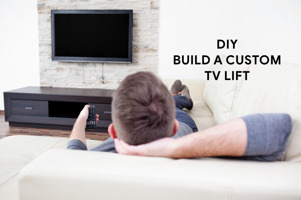 Diy How To Build A Custom Tv Lift Using Motorized Tv Mount