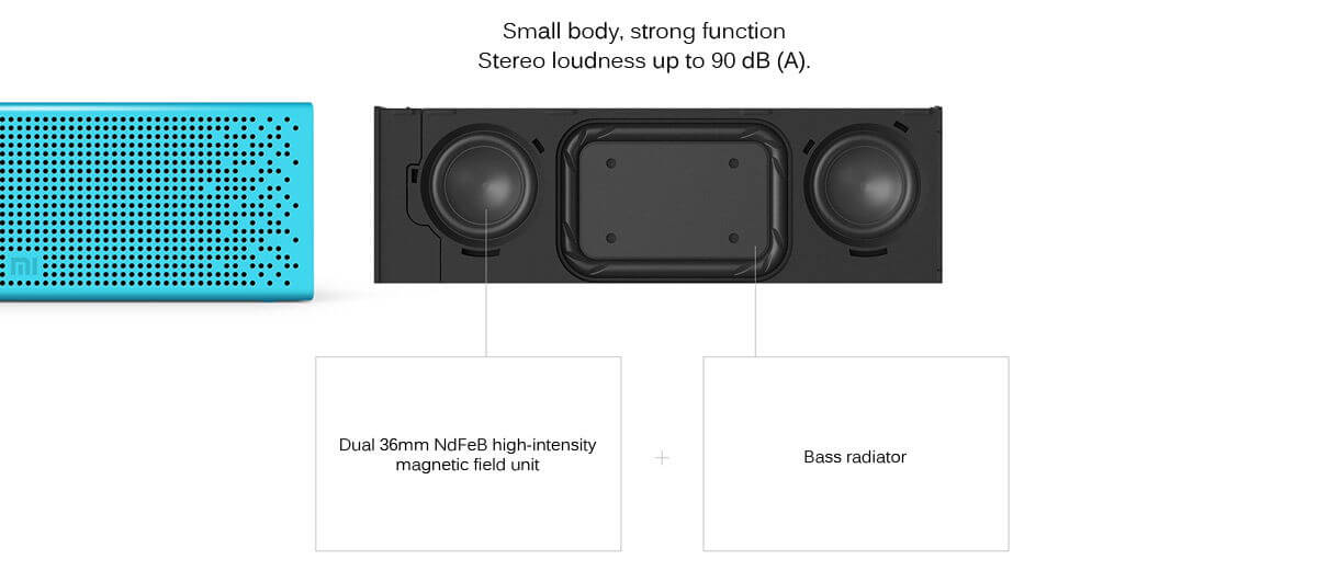xiaomi bluetooth 4.0 speaker tech