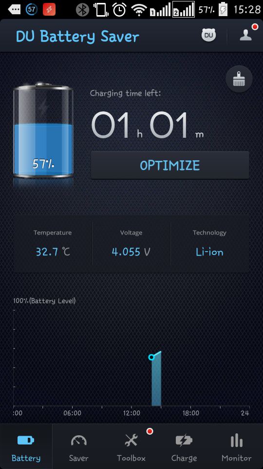 du battery saver optimize