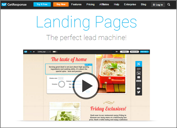 Getresponse landing pages