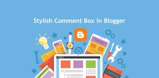 Stylish comment box in blogger