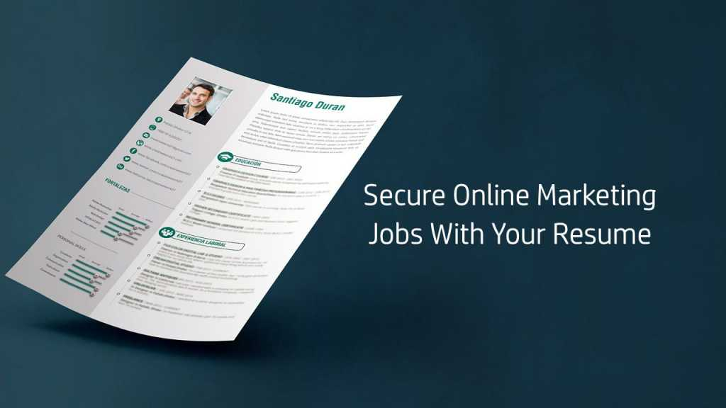 Online Marketing Jobs With Your Resume