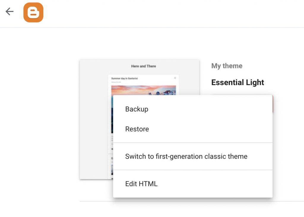 No mobile theme in Blogger Blogspot