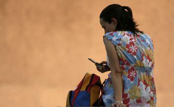 Women using mobile phones