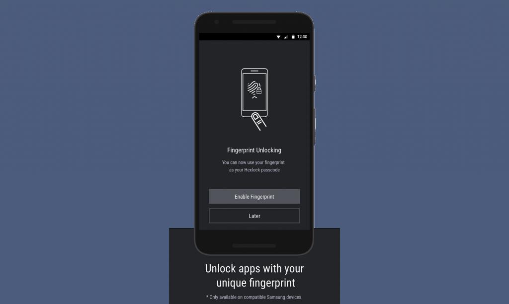 Fingerprint unlocking features