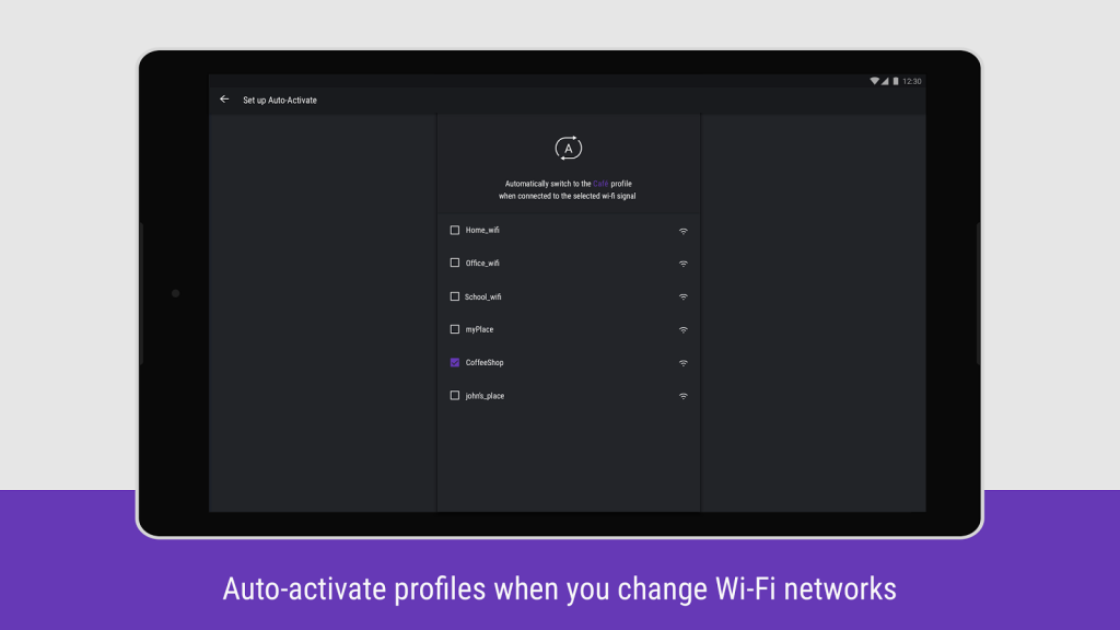 Hexlock Auto Activate Profiles