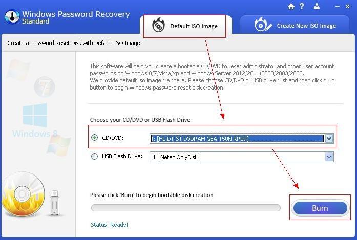 Windows password recovery img1